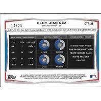 Eloy Jimenez 2014 Chicago Cubs Topps 1st Bowman Chrome Orange Refractor /25
