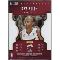 Ray Allen 15-16 Panini Gala Miami Heat Signatures Autograph /40