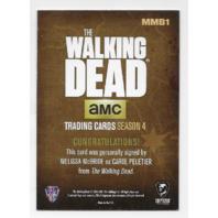 Melissa McBride Carol Peletier 2016 Cryptozoic Walking Dead season 4 Autograph  #MMB1