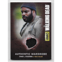 Tyreese Williams 2016 Cryptozoic  Walking Dead season 4 wardrobe relic M19