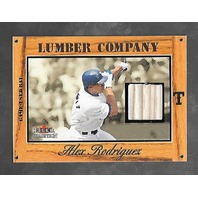 ALEX RODRIGUEZ 2003 Fleer Tradition Lumber Company game used bat piece /57