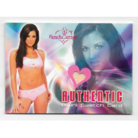 Jenna Morasca 2004 Benchwarmer Authentic Bikini Swatch Card Pink