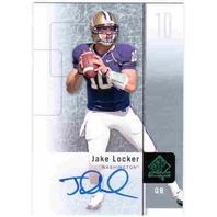 JAKE LOCKER 2011 SP Authentic Rookie Autograph Card Auto Titans Huskies