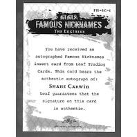 SHANE CARWIN 2011 Leaf UFC MMA Metal Famous Nicknames Signature auto FMSC1