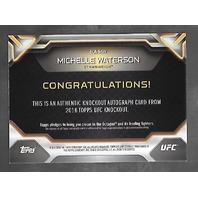 MICHELLE WATERSON 2016 Topps UFC Knockout auto /249 blue Autograph