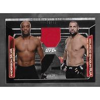 ANDERSON SILVA/MAURICIO RUA 2016 UFC Topps Knockput Dominant Duos auto /88