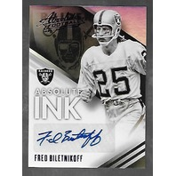 FRED BILETNIKOFF 2014 Panini Absolute Ink Spectrum Purple auto /10 autograph