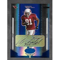 ANQUAN BOLDIN 2004 Leaf Certified Materials Mirror Blue Signatures auto /50