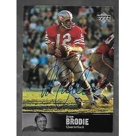 JOHN BRODIE 1997 Upper Deck NFL Legends auto #AL-81 QB 49ers autograph