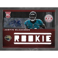 JUSTIN BLACKMON 2012 Panini Totally Certified Jersey Autograph Rookie RC Auto/99