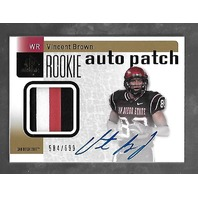 VINCENT BROWN 2011 UD Upper Deck SP Authentic Rookie auto jersey rc /699 patch