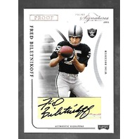 FRED BILETNIKOFF 2004 Playoff Prime Signatures Signature Proofs Silver auto /40