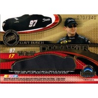 MATT KENSETH KURT BUSCH 2005 Press Pass Eclipse Race Used Double Car Cover /340