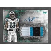 KELVIN BENJAMIN 2014 Topps Inception Rookie Jumbo Patch Autographs Green /75