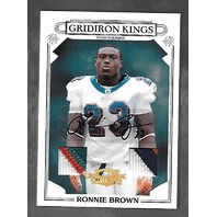 RONNIE BROWN 2007 Threads Gridiron Kings Material Autographs Prime 1/10 auto 36