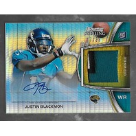 JUSTIN BLACKMON 2012 Bowman Sterling Prism Refractor auto jersey /36 Jaguars