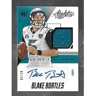 BLAKE BORTLES 2014 Panini Absolute Tools Trade RC auto patch /99 autograph