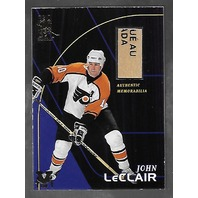 John LeClair 1998-99 Final Vault Game Used Stick Card 1/1 Flyers