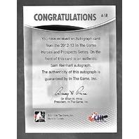 Sam Reinhart 2012-13 Final Vault ITG Heroes Prospects SP RC  auto #A-SR Autograph