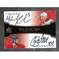 Ryder/Latendresse 2007-08 SP Authentic Hockey Sign Times Autograph Auto  #ST2-RL