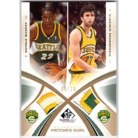 RONALD MURRAY VLAD RADMANOVIC 2005-06 SP Game Used Dual Patch Gold 9/10 Sonics
