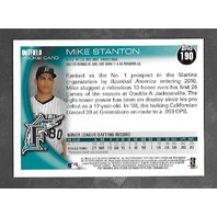 MIKE GIANCARLO STANTON 2010 Topps Chrome Rookie RC autograph 190 Florida Marlins