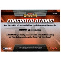 DOUG WILLIAMS 2010 TriStar TNA New Era Silver Autograph Card Auto