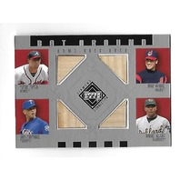 FURCAL/VIZQUEL/RODRIGUEZ/TEJADA 2002 UD Diamond Collection 4 bat piece #BA-EVRT