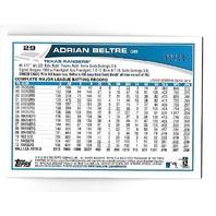 ADRIAN BELTRE 2013 Topps Silver Sparkle Wrapper Redemption /10 Texas Rangers