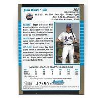 JIM BURT 2005 Topps Bowman Chrome 1st Year Gold Refractor /50 New York Mets