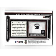 JEREMY BONDERMAN 2003 Playoff Piece Game Worn jersey patch auto #POG-85