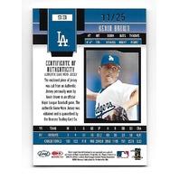 KEVIN BROWN 2003 Leaf Certified Materials Gold Foil patch /25 Los Angeles Dodgers