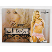 Heather Rae Young 2013  Benchwarmer Lingerie autograph #11 Autograph