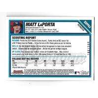 MATT LAPORTA 2007 Topps Bowman Chrome Blue Refractor Autograph /199