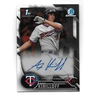 Alex Kirilloff 2016 Topps Bowman Chrome Autograph #CDA-AK First Bowman