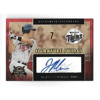 JOE MAUER 2005 Fleer National Pastime Signature Swings Gold Auto /194 Twins