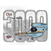 PAUL MOLITOR 2000 Fleer 3000 Club bat piece blue jersey patch /15 Minnesota Twins