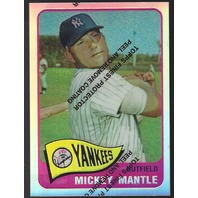 MICKEY MANTLE 1996 Topps Finest Commemorative Set 1965 Refractor #15