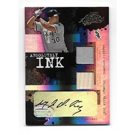 MAGGLIO ORDONEZ 2005 Playoff Absolute Absolutely Ink auto 2 swatch /10