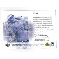 JUSTIN LEONERD 2002 Upper Deck SP Scorecard Signatures Autograph #SS-JL