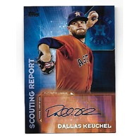 DALLAS KEUCHEL 2016 Topps Scouting Report auto #SRA-DK Houston Astros