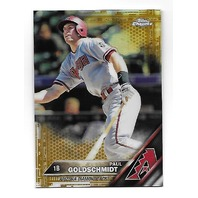 PAUL GOLDSCHMIDT 2016 Topps Chrome Gold Refractor /50