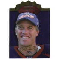 JOHN ELWAY 1998 Collector's Edge Advantage Livin' Large Die-Cut Insert Card