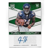 JORDAN HOWARD 2016 Panini Elite Turn Century Green RC auto autograph #TCA-JH bears