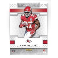KAREEM HUNT 2017 Panini Heir to the Throne RC auto autograph #HTS-KH