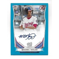MICHAEL TAYLOR 2014 Topps Bowman Prospects Blue auto autograph /500 Nationals