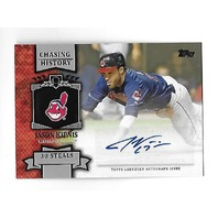 JASON KIPNIS 2013 Topps Chasing History 30 Steals Auto Autograph #CHA-JK Indians
