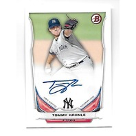 TOMMY KAHNLE 2014 Topps Bowman Prospect Auto Autograph #PA-TK New York Yankees