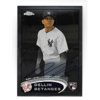 DELLIN BETANCES 2012 Topps Chrome Rookie RC Auto Autograph #167 Yankees