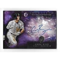 GREG BIRD 2016 Topps Bowman Inception Rookie RC Auto Autograph Purple /150 Yankees